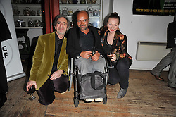 Left to right, HARRY SHEARER, ASH ATALLA and JUDITH OWEN at the gala night party of Losing It staring Ruby Wax held at he Menier Chocolate Factory, 51-53 Southwark Street, London SE1 on 23rd February 2011.