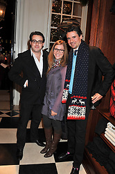 Left to right, LOUIS WAYMOUTH, ? and EDWARD TAYLOR at a party hosted by TLC to celebrate signing their 5000th member and Ralph Lauren to celebrate the opening of the first Ralph Lauren Rugby store in the UK at 43 King Street, Covent Garden, London on 30th November 2011.