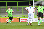 Forest Green Legends Marc McGregor slots home a penalty during the Trevor Horsley Memorial Match held at the New Lawn, Forest Green, United Kingdom on 19 May 2019.