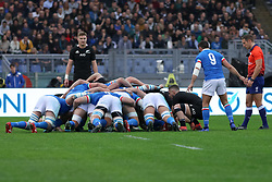 November 24, 2018 - Rome, Rome, Italy - Italy and New Zealand during the Test Match 2018 between Italy and New Zealand at Stadio Olimpico on November 24, 2018 in Rome, Italy. (Credit Image: © Emmanuele Ciancaglini/NurPhoto via ZUMA Press)