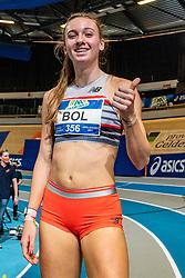 Femke Bol win the 400 meter for Femke Klaver during AA Drink Dutch Athletics Championship Indoor on 21 February 2021 in Apeldoorn.