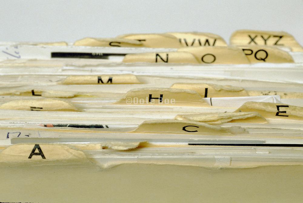 Documents in Alphabetical Folders