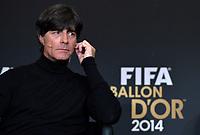Zuerich, 12.1.2015, FIFA Ballon d'Or 2014, Joachim LOEW (GER)  an der FIFA Ballon d`Or Gala 2014. (Melanie Duchene/EQ Images)