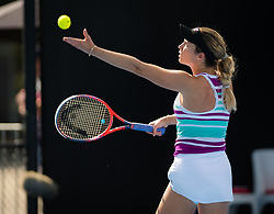 January 8, 2019 - Sidney, AUSTRALIA - Danielle Collins of the United States in action during the first round of the 2019 Sydney International WTA Premier tennis tournament (Credit Image: © AFP7 via ZUMA Wire)