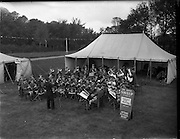 22/10/1959<br /> 10/22/1959<br /> 22 October 1959<br /> Irish Hospitals Trust 97th Sweepstake Draw on Cambridgeshire 1959 at Irish Hospital Sweepstakes office, Ballsbridge, Dublin. Artane Boys Band entertaining visitors to the draw during the interval.