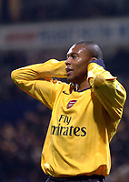 Photo: Paul Greenwood.<br />Bolton Wanderers v Arsenal. The FA Cup. 14/02/2007. Arsenal's Julio Baptista reacts to a missed opportunity