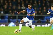 Theo Walcott of Everton in action. Premier league match, Everton v Leicester City at Goodison Park in Liverpool, Merseyside on Wednesday 31st January 2018.<br /> pic by Chris Stading, Andrew Orchard sports photography.