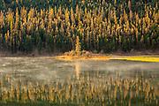 Fall colors on Salmon Lake, Montana