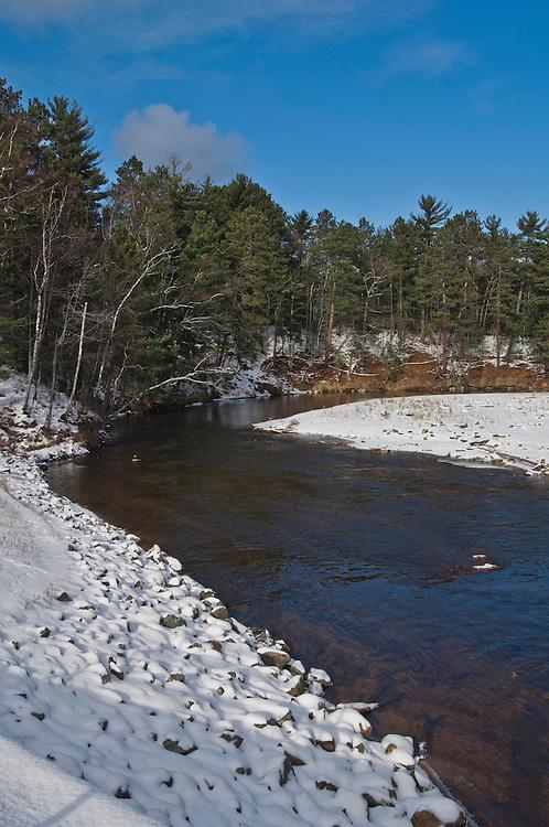 The Dead River in winter, Marquette, Michigan.