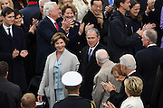 Former President George W. Bush and wife Laura Bush arrive for the President Inaugural Ceremony on Capitol Hill January 20, 2017 in Washington, DC. Donald Trump became the 45th President of the United States in the ceremony.