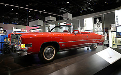 Chuck Berry's red 1973 Cadillac Eldorado is on display in the Smithsonian National Museum of African American History and Culture on September 21, 2016 in Washington, DC.The National Museum of African American History and Culture will open on Sept. 24 in Washington thirteen years since Congress and President George W. Bush authorized its construction, the 400,000-square-foot building stands on a five-acre site on the National Mall, close to the Washington Monument. President Obama will speak at its opening dedication.Photo by Olivier Douliery/Abaca