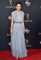 Hannah Murray attends the 68th Annual Primetime Emmy Awards at Microsoft Theater on September 18, 2016 in Los Angeles, California. Photo by Lionel Hahn/ABACAPRESS.COM