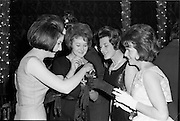 18/04/1962<br /> 04/18/1962<br /> 18 April 1962 <br /> Betty Whelan and Associates Reception at the Gresham Hotel, Dublin. At the event were (l-r): Maida Cooney; Georgina Keane; Mrs Norman Metcalf and Rosalin Cox.