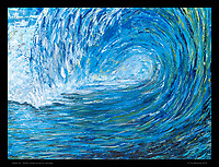"""""""Wave 02"""" -  30x40 inches, Acrylic on canvas."""