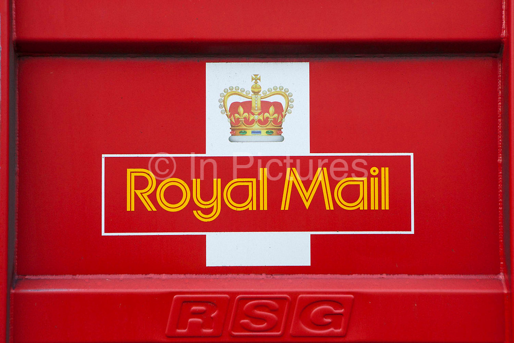 Royal Mail signes at the Chancery Lane depot, Central London.