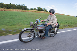 Bill Page of KS on his 1915 Harley-Davidson during the Motorcycle Cannonball Race of the Century. Stage-2 from York, PA to Morgantown, WV. USA. Sunday September 11, 2016. Photography ©2016 Michael Lichter.