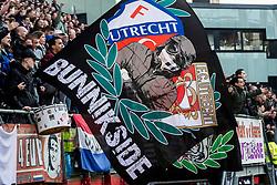 11-03-2018 NED: FC Utrecht - Vitesse, Utrecht<br /> Utrecht verslaat met 5-1 Vitesse / support vlaggen FC Utrecht