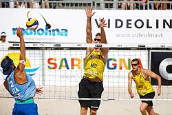 20140607 ITA: EK Beachvolleybal, Cagliari<br /> Daniele Lupo, Christiaan Varenhorst, Jon Stiekema<br /> ©2014-FotoHoogendoorn.nl / Pim Waslander