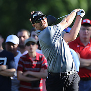Winner Hunter Mahan in action during the fourth round of theThe Barclays Golf Tournament at The Ridgewood Country Club, Paramus, New Jersey, USA. 24th August 2014. Photo Tim Clayton