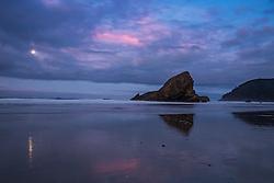 Sunrise Moon, Gold Beach Oregon