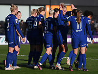 Football - 2020 / 2021 Barclays FA Women's Super League - Round 21 - Tottenham Hotspur vs Chelsea - The Hive Stadium<br /> <br /> Chelsea Women celebrate their opening goal scored by Sam Kerr.<br /> <br /> COLORSPORT/ASHLEY WESTERN