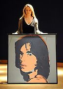 London News pictures. 11.02.2011. A Andy Warhol painting of Mick Jagger, expected to fetch 550.00-750.00- pounds. A preview, today (Fri) of Christie's Auction House Post-War and Contemporary Art Evening Auction. The sale is expected to make a combined total of 46,246,000 to 66,447,000 when it is sold on 16th Feb 2011.. Picture Credit should read Stephen Simpson/LNP