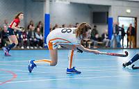ROTTERDAM - Vivienne Peters (OR)  dames Hurley-Oranje Rood, Hurley plaatst zich voor halve finales NK  ,hoofdklasse competitie  zaalhockey.   COPYRIGHT  KOEN SUYK