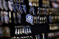 Photo: Paul Thomas.<br />Everton v Manchester United. The Barclays Premiership. 28/04/2007.<br /><br />Everton badges.