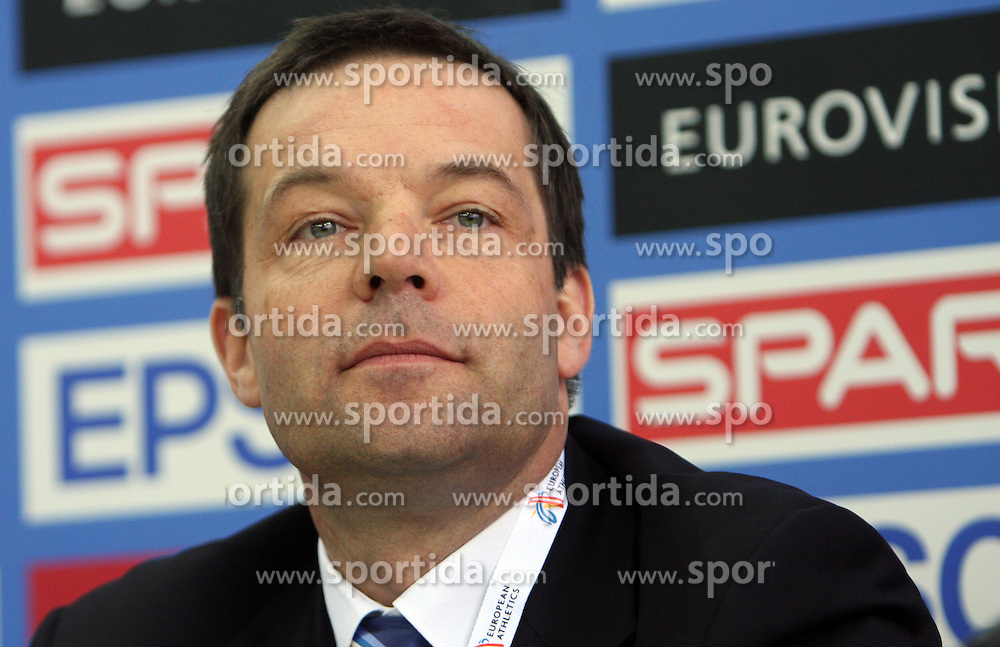 Christian Milz, general manager of EAA at press conference day before European Athletics Indoor Championships Torino 2009 (6th - 8th March), at Oval Lingotto Stadium,  Torino, Italy, on March 5, 2009. (Photo by Vid Ponikvar / Sportida)