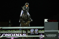 Anna-Julia Kontio on Pacific des Essarts competes during the Hong Kong Jockey Club Trophy at the Longines Masters of Hong Kong on 19 February 2016 at the Asia World Expo in Hong Kong, China. Photo by Juan Manuel Serrano / Power Sport Images