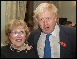 Oct. 22, 2014 - London, England, United Kingdom - 22/10/2014. London, United Kingdom.   Mayor of London Boris Johnson with his mother Charlotte Johnson Wahl at Boris's book launch - The Churchill Factor at The English Speaking Union, Dartmouth House, London..  (Credit Image: © Andrew Parsons/i-Images/ZUMA Wire)