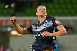 November 16, 2018 - Melbourne, Victoria, Australia - EMILY GIELNIK (15) of Melbourne Victory celebrates after scoring a goal in round 3 of the W-League competition between Melbourne City and Melbourne Victory during the 2018 season at AAMI Park, Melbourne, Australia. The Westfield W-League is Australia's national women's semi-professional soccer league. Melbourne Victory won 2-0. (Credit Image: © Sydney Low/ZUMA Wire)