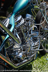 BF11 invited builder Ben Zales' custom 1963 Harley-Davidson Panhead at the Born Free Motorcycle Show (BF11) at Oak Canyon Ranch, Silverado  CA, USA. Saturday, June 22, 2019. Photography ©2019 Michael Lichter.