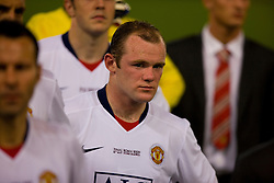 ROME, ITALY - Tuesday, May 26, 2009: Manchester United's Wayne Rooney looks dejected after losing 2-0 to Barcelona during the UEFA Champions League Final at the Stadio Olimpico. (Pic by Carlo Baroncini/Propaganda)