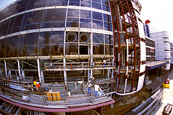 Stock photo of the exterior of the George R. Brown Convention Center in Houston, Texas during new construction.