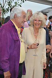 ANTONIO CARLUCCIO and HRH The DUCHESS OF CORNWALL at a party to celebrate the publication on 'Let's Eat: Recipes From My Kitchen Notebook' by Tom Parker Bowles held at Selfridge's Rooftop. Selfridge's, Oxford Street, London on 27th June 2012.