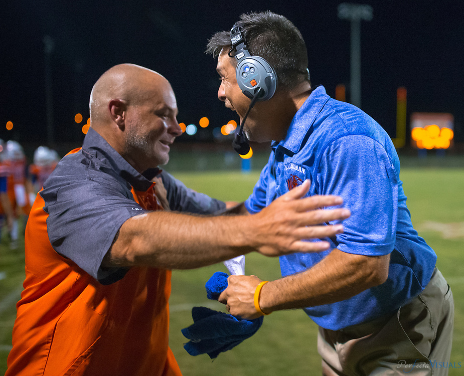 Randleman defeats Asheboro 37-34 at RHS.<br /> <br /> *********PHOTOS MAY NOT BE PUBLISHED WITHOU PERMISSION COPYRIGHT 2017 JERRY WOLFORD / PERFECTA VISUALS******<br /> <br /> Photographed, Friday, August 18, 2017, in Greensboro, N.C. JERRY WOLFORD  / Perfecta Visuals