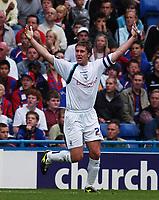 Photo: Alan Crowhurst.<br />Crystal Palace v Preston NE. Coca Cola Championship.<br />24/09/2005. Preston captain Chris Lucketti celebrates his opening goal.