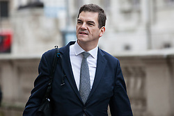 London, UK. 6th December, 2018. Olly Robbins, the Prime Minister's Europe Adviser and Chief Civil Service Brexit negotiator, arrives for a meeting at the Cabinet Office.