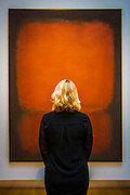 "Mark Rothko (1903 -1970), No. 10, 1958 (est: $45 million) - Preview of almost fifty works from Christie's spring sales in New York of Impressionist, Modern, Post-War And Contemporary Art. The most expensive work is Les femmes d'Alger (Version ""O""), 1955, by Pablo Picasso (1881-1973), estimate $140million. Other highlights include: Pablo Picasso (1881-1973), Femme à la résille, 1938 (est $55 million); Mark Rothko (1903 -1970), No. 36 (Black Stripe), 1958 (est: $30-50 million); Andy Warhol (1928-1987), Colored Mona Lisa, 1963 (est $40 million); Claude Monet (1840-1926), Le Parlement, soleil couchant, 1902 (est: $35-45 million); Jean Dubuffet, Paris Polka, 1961 (est $25 million); Piet Mondrian (1872-1944), Composition No.III (Composition with Red, Blue, Yellow and Black), 1929 (est: $15-25million); and Amedeo Modigliani (1884-1920), Portrait de Béatrice Hastings, 1916 (est $7-10million) from the Collection of John C. Whitehead. The works will be on view to the public from 11 to 16 April at Christie's King Street, London."