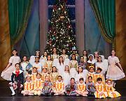 Bay Pointe Ballet school students pose for their Nutcracker portraits at the San Mateo Performing Arts Center in San Mateo, California, on December 11, 2014. (Stan Olszewski/SOSKIphoto)