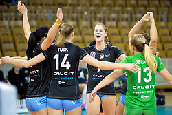 26-11-2015 SLO: Champions League Calcit Ljubljana - VakifBank Istanbul, Ljubljana<br /> Players of Calcit Ljubljana celebrate<br /> <br /> ***NETHERLANDS ONLY***