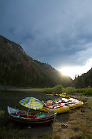 Whitewater rafting on the Main Salmon River in central Idaho.