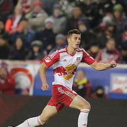 Matt Miazga, New York Red Bulls, in action during the New York Red Bulls Vs Columbus Crew SC, Major League Soccer Eastern Conference Championship, second leg, at Red Bull Arena, Harrison, New Jersey. USA. 29th November 2015. Photo Tim Clayton