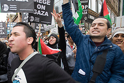 © London News Pictures. 27/12/2011. London, UK.  Protestors outside the Israeli Embassy in Kensington, London on December 27th, 2011 to demonstrate on the  3 Year anniversary of the beginning of a 3 week Israeli attack on Palestinian people in Gaza in December 2008. Photo credit : Ben Cawthra/LNP