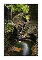 Waterfalls along the Gorge Trail, Watkins Glen State Park, New York