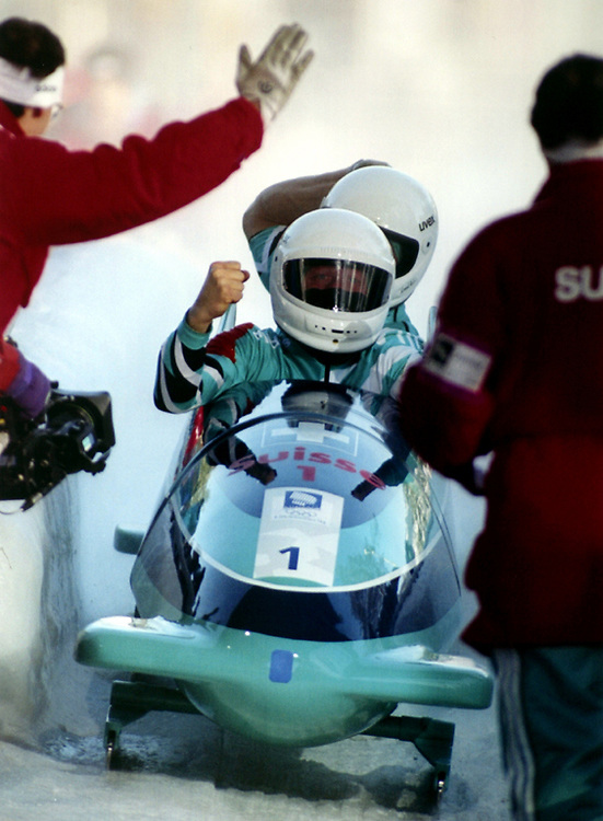 Bobsled compeittion at the 1994 Winter Olympics in Lillehammer, Norway.