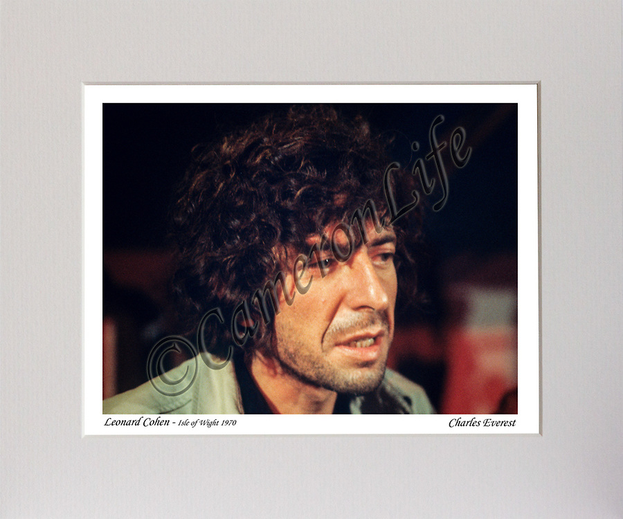 Leonard Cohen (close up) MCP-12x10CLRF-005 CLMA-014