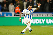 Danny Simpson of Huddersfield Town  during the EFL Sky Bet Championship match between Huddersfield Town and Brentford at the John Smiths Stadium, Huddersfield, England on 18 January 2020.