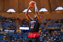 Dec 22, 2018; Morgantown, WV, USA; Jacksonville State Gamecocks guard Marlon Hunter (23) shoots a three pointer during the first half against the West Virginia Mountaineers at WVU Coliseum. Mandatory Credit: Ben Queen-USA TODAY Sports